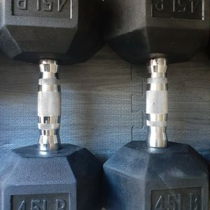 New 45lb Dumbbells for Sale in Ontario, CA