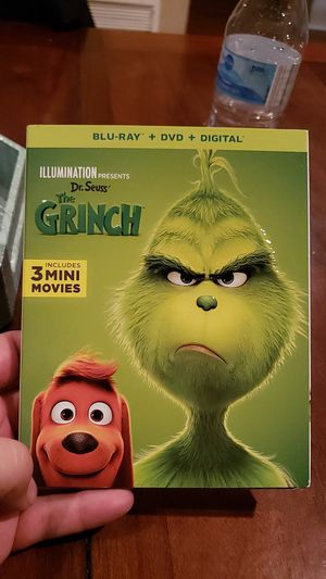 The grinch blu ray dvd combo brand new sealed for Sale in Fullerton, CA