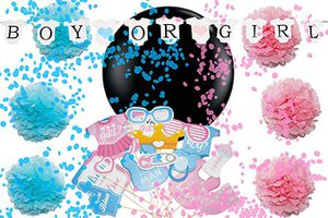 Gender Reveal Party Supplies - Baby Shower Decorations Set for Sale in Hacienda Heights, CA