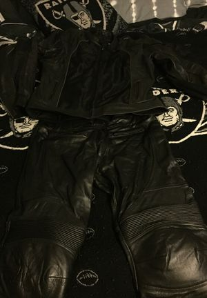 Leather motorcycle gear (BILT) jacket & pants for Sale in Vancouver, WA