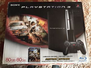 Playstation 3 with three game controllers; also comes with 13 games (FPS & racing) for Sale in Chantilly, VA