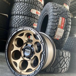 "18"" KMC WHEELS & TIRES PACKAGE Includes Nitto Ridge Grappler Tires 305/60R18 Package Deals Only $1399 for Sale in La Habra, CA"