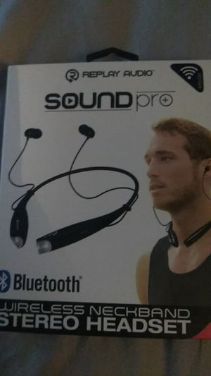 Replay Audio Sound pro Bluetooth wireless neckband headphones for Sale in Independence, MO