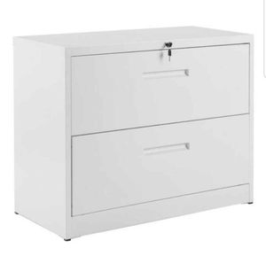 Merax heavy duty white lateral locking file cabinet for Sale in Duluth, GA