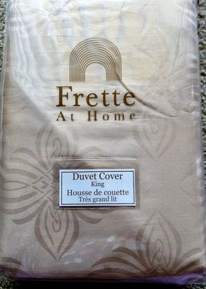 NEW! Gorgeous! $499+ Frette at Home BOHO Duvet Cover King Powder Pink Jacquard for Sale in Gaithersburg, MD