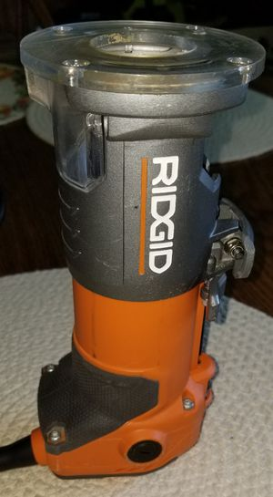 Ridgid 5.5 Amp Corded Compact Fixed-Base Router R2401 Palm Router for Sale in Greer, SC