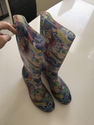 Coach rain boots size 41 for Sale in Des Plaines, IL
