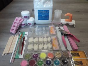 Acrylic nail kit with EMA Liquid Monomer Acrylic Nail 16 oz!!! for Sale in City of Industry, CA