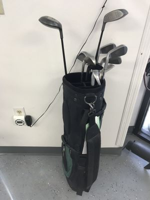 Power Tour Golf Clubs (3-9 [Missing 8], 1, 3, 5 Woods) Adams Golf PW, Ram Accubar 7 Iron, Taylor Made 60 Degree Wedge and Bag $29.99 for Sale in Tampa, FL
