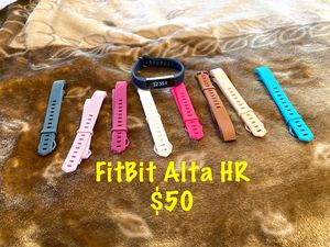 FITBIT Alta HR with 8 interchangeable bands for Sale in Fontana, CA