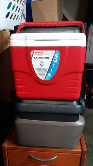 2 coleman cooler for Sale in Industry, CA