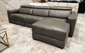 Nevio 3pc Italian leather sectional sofa for Sale in Decatur, GA