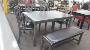 Dining Set 6 Piece, Grey Color for Sale in Fountain Valley, CA