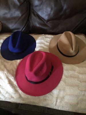 Pink n blue brim hats for Sale in Philadelphia, PA