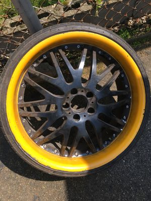 20 inch rims with tires for Sale in Somerville, MA