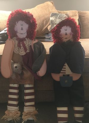 Raggedy Ann & Andy wooden figures for Sale in Seven Hills, OH