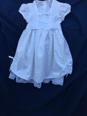 Small girls dress - white for Sale in Payson, AZ