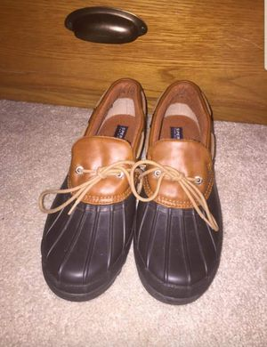 Sperry Top-Sider women size 9 heron seal brown leather rubber ankle boots for Sale in Fairfax, VA
