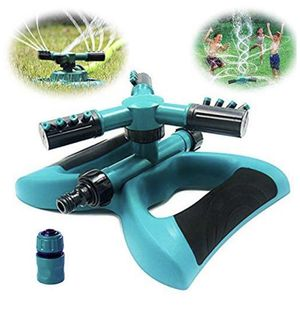 6-005 Lawn Sprinkler - Automatic 360 Rotating Adjustable Garden Hose Watering Sprinkler Head for Kids, with 3600 SQ FT Coverage Yard Irrigation Syste for Sale in San Diego, CA