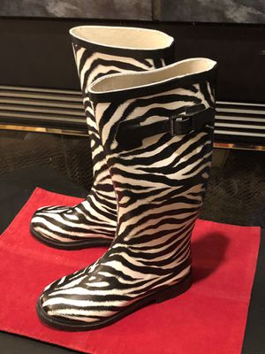 Cardini Zebra Print Rain Boots for Sale in Winston-Salem, NC