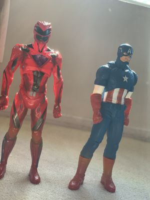 Captain America and red ranger (big figures) for Sale in Chicago, IL