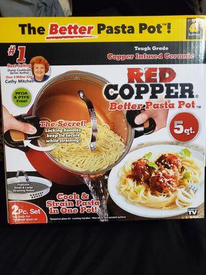 Red Copper pasta pot for Sale in Whittier, CA