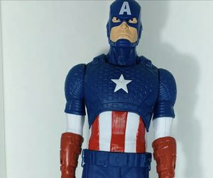 NEW Marvel large action figure captain america 20 inches long with shield for Sale in Bakersfield, CA