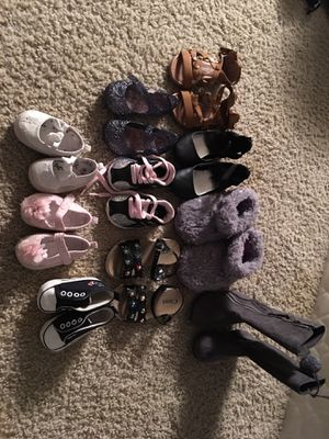 Baby girl shoes various sizes in good condition for Sale in Houston, TX