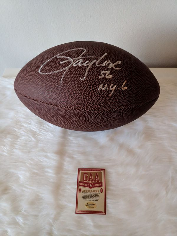 *NY GIANTS* (L.T.) Lawrence Taylor Autographed Football with COA