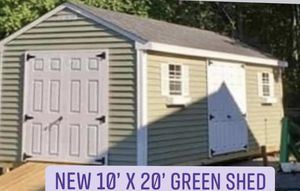 New 10' x 20' Green Vinyl A Frame Shed for Sale in Marblehead, MA
