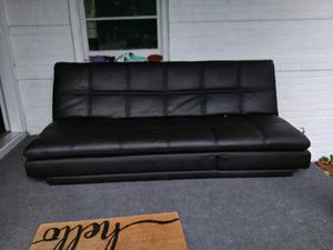 Still is new leather fold out bed couch what power strip for Sale in Wichita, KS