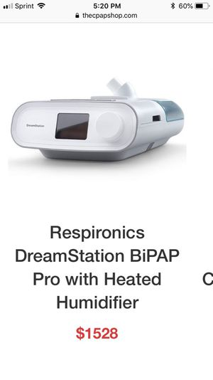 Respironics Dreamstation pro with heated humidifier for sale for Sale in Alexandria, VA