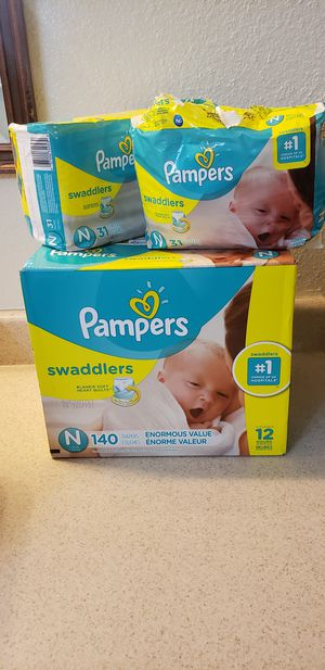 Pamper Swaddlers Newborn diapers for Sale in Dallas, TX