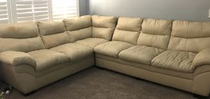 Cream Sectional Sofa please see pictures $100 for Sale in Las Vegas, NV