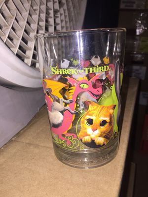 collectible shrek III glass for Sale in Fresno, CA