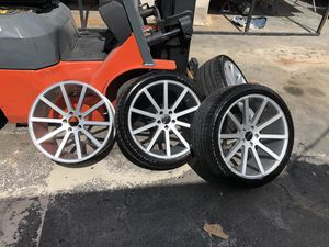 """Giovanna 20"""" Staggered 5x108 5 lug Jaguar wheels / rims with 3 continental low profile tires for Sale in Lauderdale Lakes, FL"""