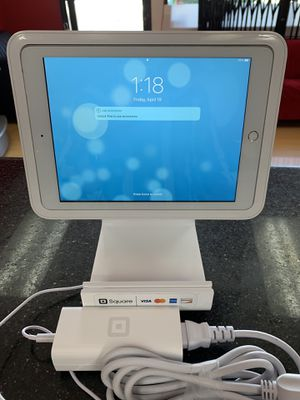 Square iPad holder completed system without iPad including power adapter and kits for 179$ for Sale in San Jose, CA