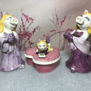 Muppets Miss Piggy Statue Figurine Sculpture And jewelry Box By Sigma Jim Henson Tastesetter for Sale in Chicago, IL
