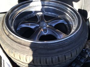 Pair of 2 work vs kf vskf 18 wheels 5x114.3 for Sale in Hayward, CA