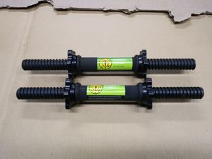 Set of 2 Golds Gym Dumbbell Handles w/ Spinlock Collars Lifting Workout for Sale in Olympia, WA