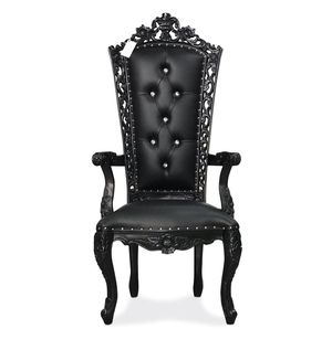 "58"" baroque king queen princess royal baroque wedding event party photography boutique hotel furniture throne chair armchair hand crafted for Sale in New York, NY"
