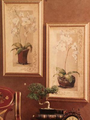 """Home 🏠 interior """" par de cuadros orkidias miden 2 7 """" X 15 👀 segunda foto para idea y el espejo lo tengo en benta por separado for Sale in Los Angeles, CA"""