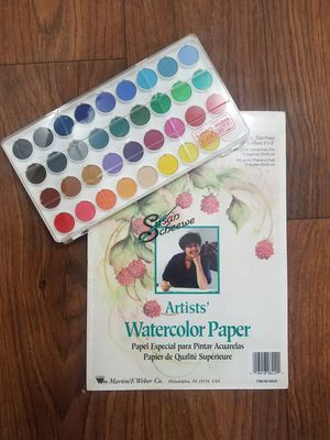 Set of Watercolor Paper and Colors for Sale in Chicago, IL