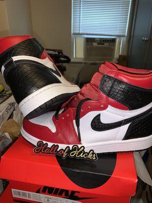 Air Jordan retro 1 satin snake skin for Sale in Queens, NY