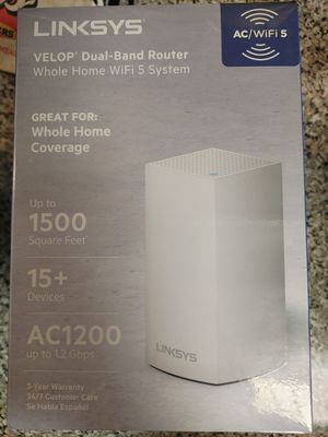Linksys velop wifi router for Sale in Grand Prairie, TX