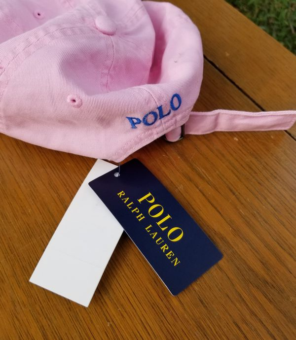 Polo Ralph Lauren light pink baseball hat/cap new with tags