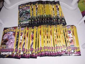Pokemon cards 50 3 card booster packs for Sale in Philadelphia, PA