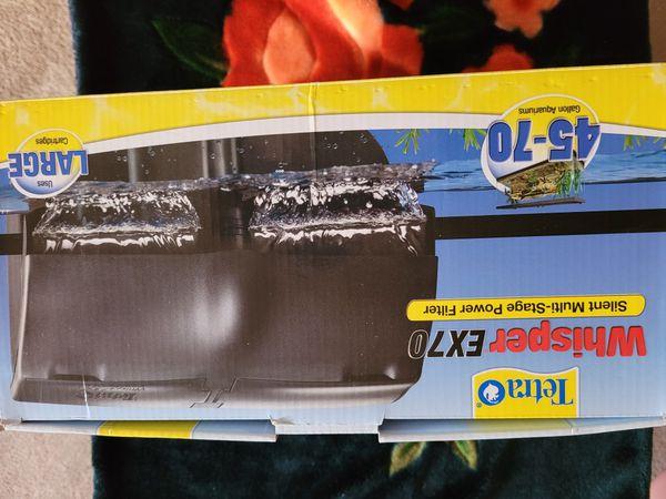 Tetra Whisper EX70 Silent Aquarium Power Filter - Brand New!!
