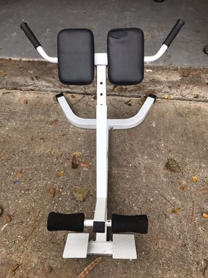 Hex Dumbbells & Back Extension Machine & Weight Plates for Sale in Spring, TX
