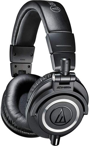 Audio-Technica ATH-M50x Professional Monitor Headphones with Mogami Gold Studio 15 ft Mic Cable for Sale in Gilbert, AZ